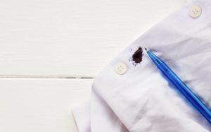 Как удалить чернила с одежды?