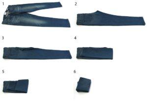 Как компактно сложить брюки чтобы не помялись