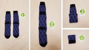 Как разложить носки в шкафу?