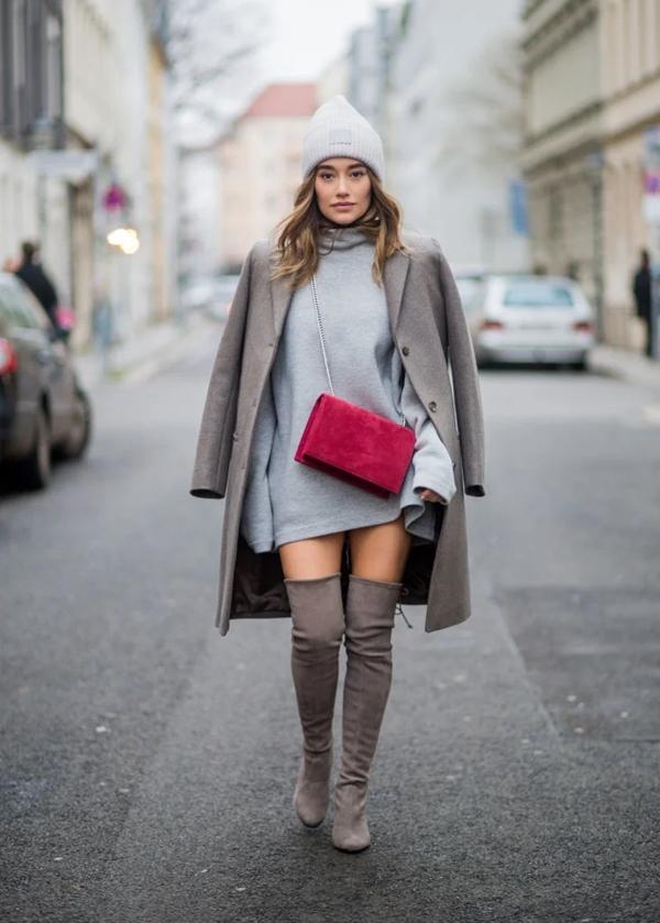 Как носить юбку зимой?