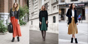 С чем носить  юбку плиссе?