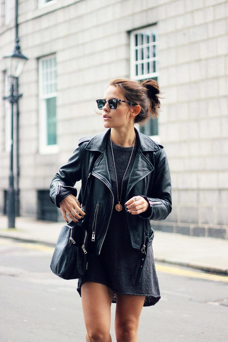 Как носить черный цвет в женской одежде