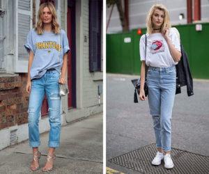 Как носить негабаритную футболку – 15 идей одежды